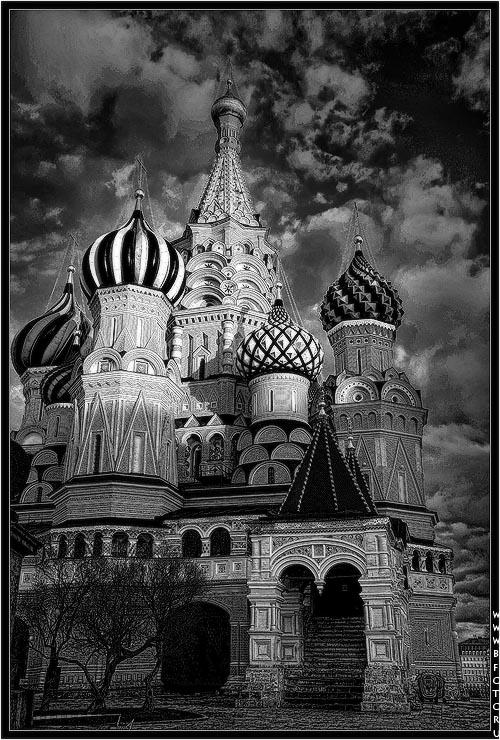 Черно белые картинки о москве, открытка