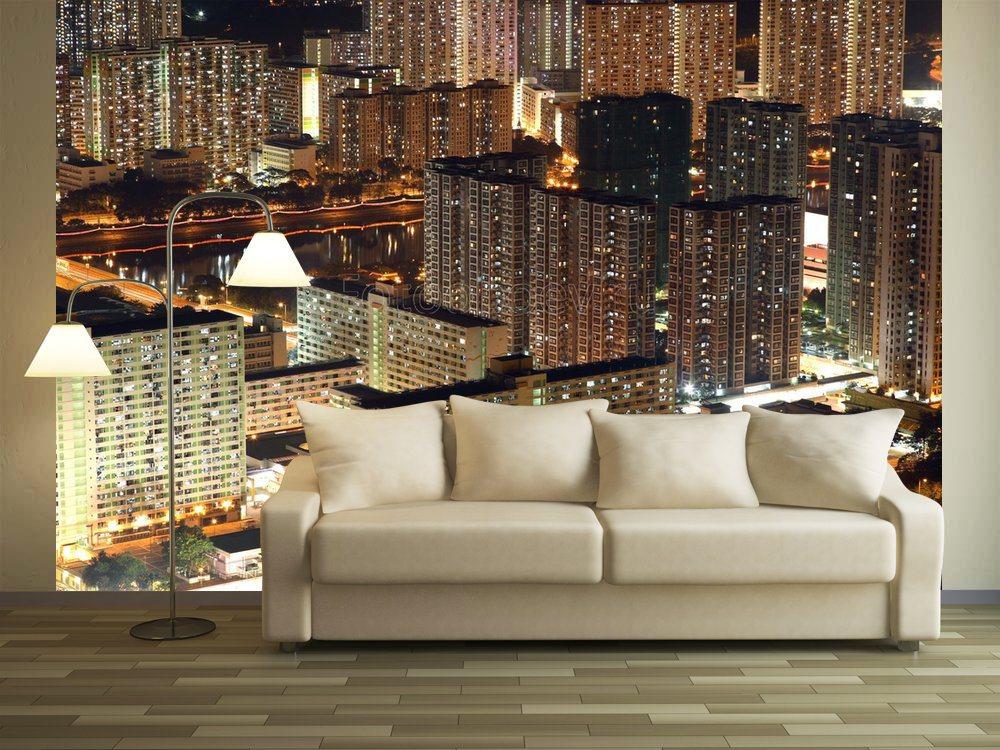 фотообои город на стене фото привычной катушкой